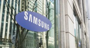 Samsung's shares closed 1.7 per cent lower in Seoul.