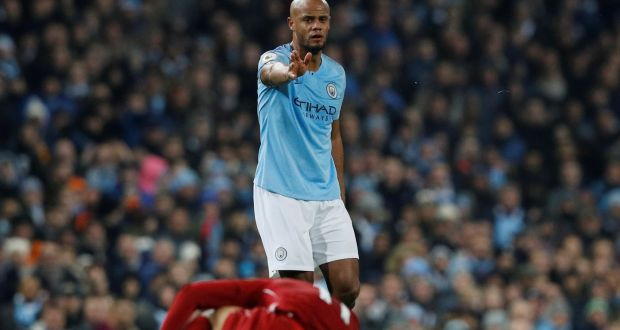 a73a07b93 Manchester City s Vincent Kompany during the match against Liverpool at the  Etihad Stadium