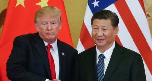 US president Donald  Trump and Chinese president Xi Jinping. The Wall Street Journal has reported that trade differences have narrowed between the two sides.  Photograph:  EPA/Roman Pilipey