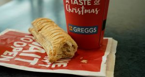 A Greggs vegan sausage roll. Photograph: Christopher Furlong/Getty Images