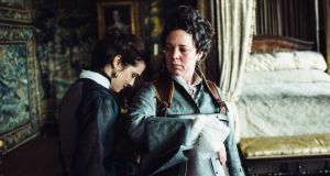 Bafta front runner: Rachel Weisz and Olivia Colman in the Irish-produced film The Favourite, which has 12 nominations