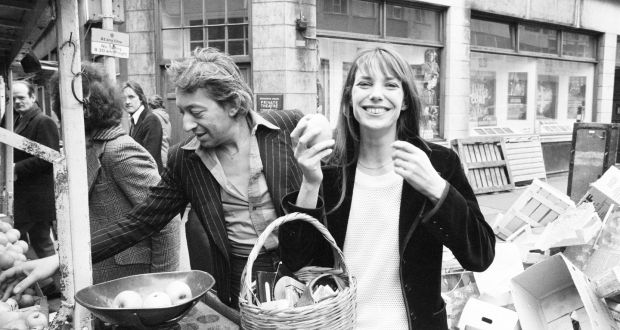 8a33ffeb9641 Jane Birkin with her husband Serge Gainsbourg in London s Berwick Street