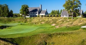 The 2020 Ryder Cup course, Whistling Straits in Sheboygan, Wisconsin. Photograph: Getty Images