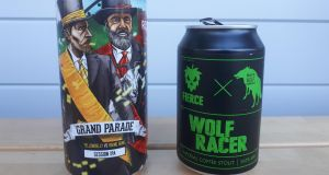 Grand Parade, a new 4.3 per cent session IPA made by Wexford's YellowBelly and Cork's Rising Sons and Wolf Racer, made by Wicklow Wolf and  Scotland's Fierce Beer
