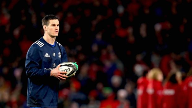 Johnny Sexton is a fitness concern ahead of the visit of Toulouse. Photograph: Ryan Byrne/Inpho