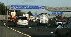 Transport Infrastructure Ireland wants tolls at each M50 junction instead of the current single toll that only one quarter of vehicles using the route will pass. Photograph:  Dara Mac Dónaill