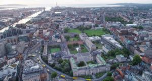 Aerial view of Trinity College Dublin: Many people in Dublin have never set foot inside its walls. Photograph: TCD