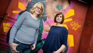Debbie Jenkinson (L): 'It's nice we have this virgin territory to explore and make our own thing happen.' Photograph: Tom Honan
