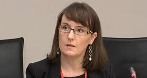 Scouting Ireland chairwoman  Aisling Kelly appearing before an Oireachtas committee last November. Photograph: Oireachtas TV screengrab