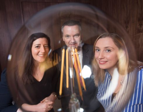 AT THE READY: EY director Keara Geary, Pat Lucey, President of the Ireland Chapter of PMI and Laura Clancy, Program Manager at Apple at the launch of The Ireland Chapter of Project Management Institute's 2019 annual national conference, which will take place in Cork. Photograph: Darragh Kane