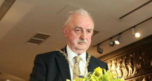 Image from April 2011 of former lord mayor of Belfast Ian Adamson, who has died at the age of 74. File photograph: Paul Faith/PA Wire