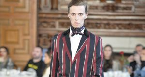 Cricket stripes as evening wear for the modern dandy by Daniel Kearns for Kent & Curwen a/w 2019