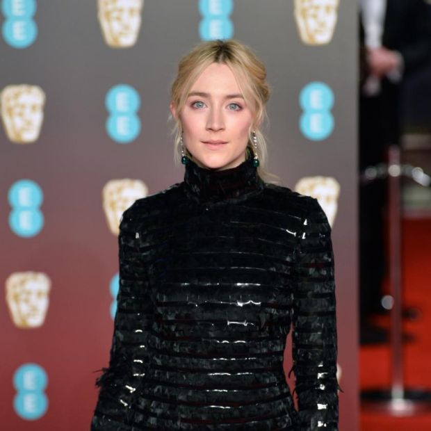 #TimesUp: Saoirse Ronan joined the fashion black-out at the 2018 Bafta film awards. Photograph: Jeff Spicer/Getty