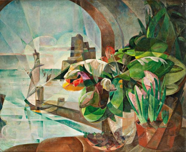 Flowers and Lighthouse, 1920s. Private Collection