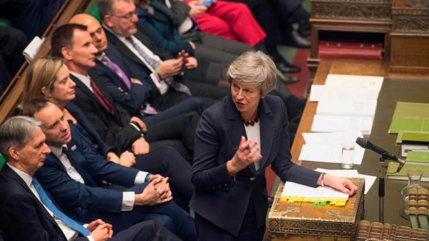 British prime minister Theresa May during prime minister's questions in the House of Commons on January 9th. Photograph: AFP Photo/Mark Duffy/Getty Images