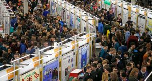 More than 450 students, out of 1,131 people exhibiting at the BT Young Scientist & Technology Exhibition, participated in the Gengage survey. Photograph: Nick Bradshaw