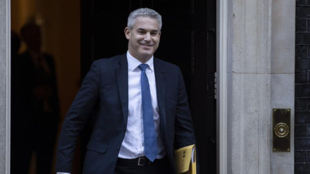 British Brexit secretary Stephen Barclay has said the British government would accept an amendment from a Tory MP aimed at limiting the duration of the backstop Photograph: Dan Kitwood/Getty Images