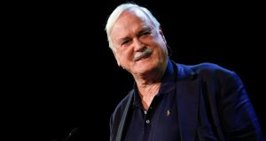 John Cleese on the main stage at the Pendulum Summit at the Convention Centre in Dublin. Photograph: Conor McCabe