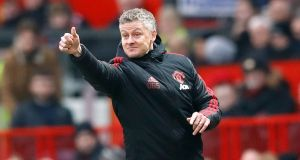 Manchester United's interim manager Ole Gunnar Solskjaer has had a 100 per cent start to his tenure. Photograph:  Martin Rickett/PA Wire.