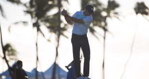 Jordan Spieth during the the first round of the 2019 Sony Open in Hawaii. Photograph: PA
