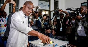 Martin Fayulu casting his vote  during the DR Congo general elections in Kinshasa on December 30th. Photograph: Luis Tato/AFP/Getty Images