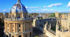 A file image of Oxford, home to one of England's best known universities. Irish students planning to start university in the UK in the coming academic year will not face a hike in fees regardless of whether there is a hard Brexit, Ministers have said. File image: Getty.
