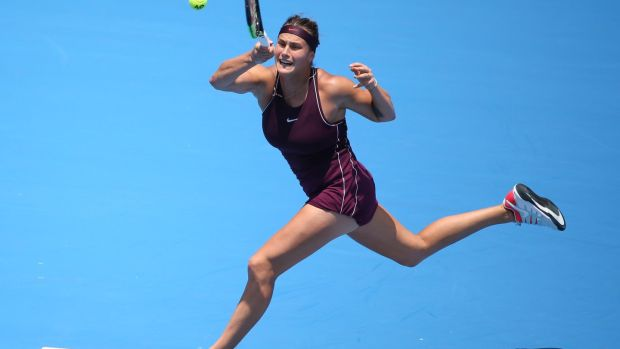 Belarussian Aryna Sabalenka has surged up the WTA ranking with her first two titles and arrives in Melbourne fresh from winning another tournament in Shenzhen. Photograph: David Moir/AFP/Getty Images