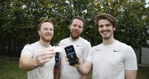 From left,   Dr Martin O'Reilly, Dr Darragh Whelan and Julien Eberle, the founders of Output Sports.