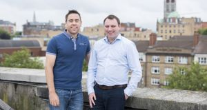 LearnUpon co-founders Des Anderson (L) and Brendan Noud