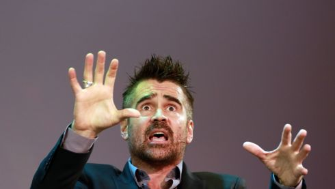 PENDULUM: Actor Colin Farrell on stage at the Pendulum Summit in Dublin. About 3,000 attended the opening day of the business-themed motivational conference at the Convention Centre on Wednesday. Photograph: Nick Bradshaw/The Irish Times