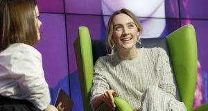 Saoirse Ronan on Friday during 'A Conversation with' at the Google Foundry Dublin, to promote the release of 'Mary, Queen of Scots'. Photograph: Andres Poveda