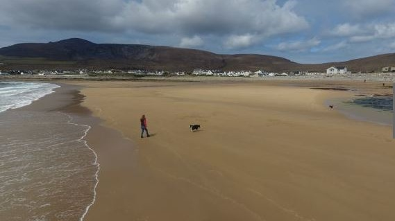 Achill island beach that reappeared in 2017 disappears again