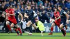 Garry Ringrose was named man-of-the-match in Leinster's comprehensive win over Toulouse. Photograph: Dan Sheridan/Inpho