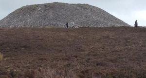 Maeve's Cairn: megalithic tomb on a limestone mountain in Co Sligo