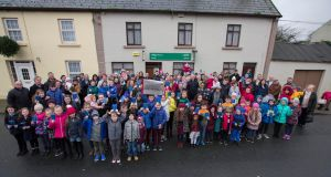 More than 100 people gathered at Gurteen post office on Sunday morning. Photograph: Brian Farrell