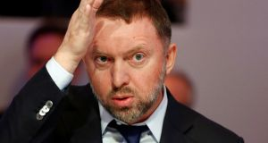 Russian tycoon Oleg Deripaska is considered close to Russian president Vladimir Putin. Photograph: Ruben Sprich/Reuters
