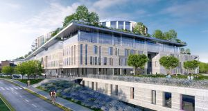 Artist's impressions  of proposed new National Children's Hospital at St James Hospital campus.