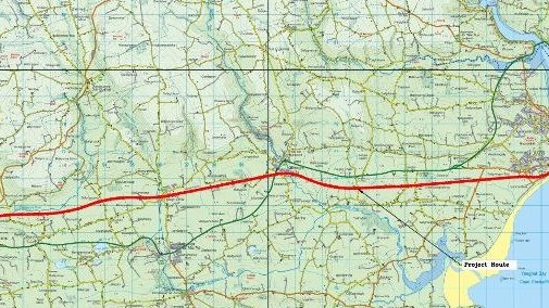 Route of the proposed east Cork greenway. Image: Cork County Council