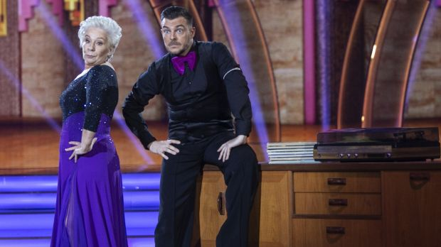 Eilish O'Carroll and Ryan Mc Shane during the Second live show of Dancing With The Stars .Dancing a Tango to'I Cant Tell A Waltz From A Tango ' by Alma Logan.NO FEE FOR REPRO/kobpix