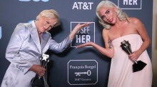 Glenn Close and Lady Gaga tie for Best Actress at Critics' Choice Awards