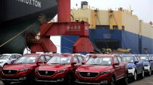 Car sales in China declined last year for the first time since 1990, official figures showed on Monday. Photograph: Reuters