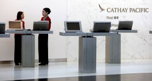 Cathay Pacific has again been caught out by rogue ticket priceson its website. Photograph: Bobby Yip/Reuters