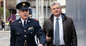 Arriving at the inquest into the Carrickmines fire deaths were Supt Martin Fitzgerald of Dun Laoghaire Garda Station and Det Insp Martin Creighton. Photograph: Tom Honan