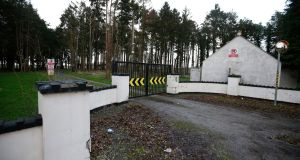 The entrance to the Thornton Hall site in north Dublin. Purchase of the site by the Department of Justice in 2004 was mired in controversy. Photograph: Nick Bradshaw