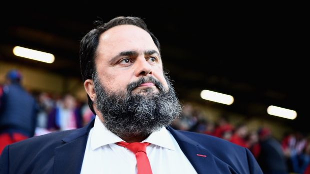 Owner of Nottingham Forest Vangelis Marinaki. Photograph: Clive Mason/Getty Images