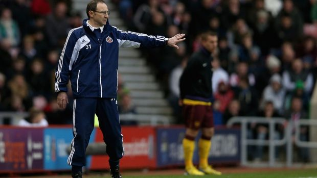 Martin O'Neill during his time in charge of Sunderland, in 2013. Photograph: Clive Brunskill/Getty Images