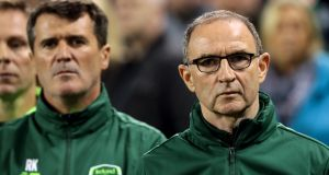 Roy Keane and Martin O'Neill during their time in charge of the Republic of Ireland. Photograph: Morgan Treacy/Inpho