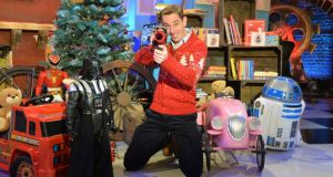 Ryan Tubridy obliterates the competition in a preview image from 'The Late Late Toy Show' of 2014, the most-watched programme on Irish television this century. Photograph: Alan Betson / The Irish Times