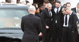 Dawn Croke's final journey from St Crona's Church in Dungloe. Photograph:  North West Newspix