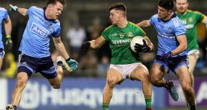 Dublin vs Meath in the O'Byrne Cup last weekend. Photograph: Laszlo Geczo/Inpho